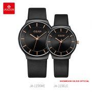 Đồng hồ cặp Julius JA1156 dây da đen