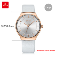 Đồng hồ nam Julius JA1156 dây da trắng