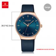 Đồng hồ nam Julius JA1156 dây da xanh đen