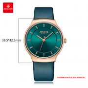 Đồng hồ nam Julius JA1156 dây da xanh ngọc