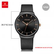 Đồng hồ nam Julius JA1156 dây da đen
