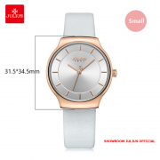 Đồng hồ nữ Julius JA1156 dây da trắng
