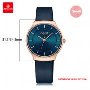 Đồng hồ nữ Julius JA1156 dây da xanh đen