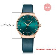 Đồng hồ nữ Julius JA1156 dây da xanh ngọc