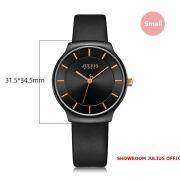 Đồng hồ nữ Julius JA1156 dây da đen