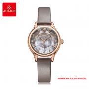 Đồng hồ nữ Julius JA1154 dây da xám