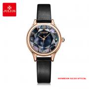 Đồng hồ nữ Julius JA1154 dây da đen