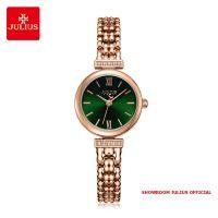Đồng hồ nữ Julius JA1139 dây thép vàng đồng mặt xanh
