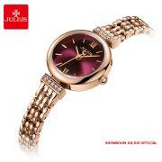 Đồng hồ nữ Julius JA1139 dây thép vàng đồng mặt tím