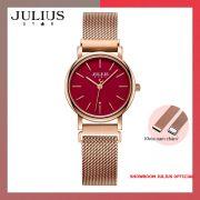 ĐỒNG HỒ Nữ  JULIUS STAR JS024 kính sapphire khóa nam châm (đỏ)