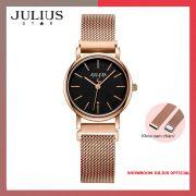 ĐỒNG HỒ Nữ  JULIUS STAR JS024 kính sapphire khóa nam châm (đen)