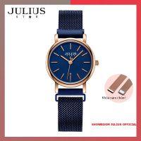 ĐỒNG HỒ Nữ  JULIUS STAR JS024 kính sapphire khóa nam châm (xanh)
