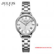 ĐỒNG HỒ Nữ JULIUS STAR JS015 dây thép bạc
