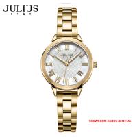 ĐỒNG HỒ Nữ JULIUS STAR JS015 dây thép vàng