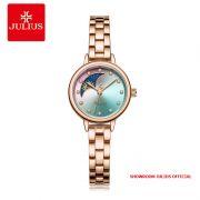 Đồng hồ nữ Julius JA1157 dây thép vàng đồng xanh - Size 23