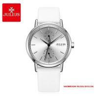 Đồng hồ nữ Julius JA1159 dây da trắng