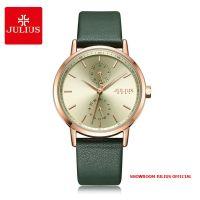 Đồng hồ nữ Julius JA1159 dây da xanh rêu