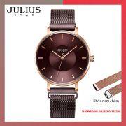 Đồng hồ nữ Julius JS025C kính Sapphire khóa nam châm