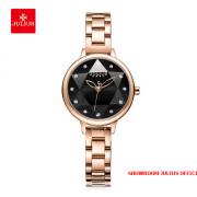 Đồng hồ nữ Julius JA1152 dây thép đồng đen