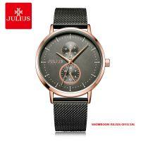 Đồng hồ nam Julius JAH105 dây thép xám