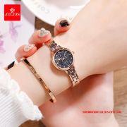 Đồng hồ nữ Julius JA1157 dây thép vàng đồng xanh đen