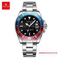 Đồng hồ nam Julius JAH104 dây thép viền xanh đỏ