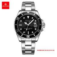Đồng hồ nam Julius JAH104 dây thép mặt đen