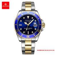 Đồng hồ nam Julius JAH104 dây thép mặt xanh