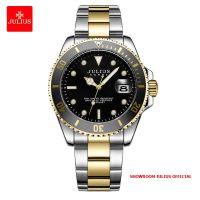 Đồng hồ nam Julius JAH104 dây thép vàng đen