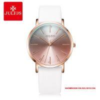 Đồng hồ Julius nữ JA1161 dây da trắng