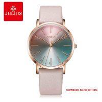 Đồng hồ Julius nữ JA1161 dây da kem