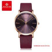Đồng hồ Julius nữ JA1161 dây da đỏ