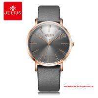 Đồng hồ Julius nữ JA1161 dây da xám