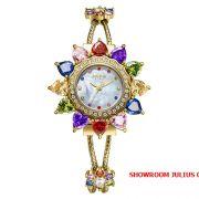 Đồng hồ nữ Julius Star JS-021 dây thép vàng - Size 35