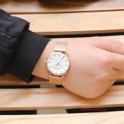 Đồng hồ nam Julius JA1164MC dây thép vàng đồng - Size 39