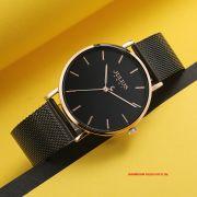 Đồng hồ Nam Julius JA1164ME dây thép đen - Size 39