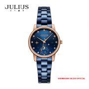Đồng hồ nữ Julius star JS029C kính Sapphire dây Inox - Size 29