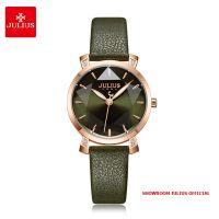Đồng hồ nữ Julius JA1158D dây da xanh rêu