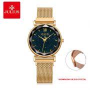 Đồng hồ Julius nữ JA1172A dây thép khóa nam châm