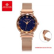 Đồng hồ Julius nữ JA1172B dây thép khóa nam châm