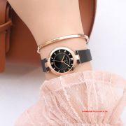 Đồng hồ nữ Julius JS028D kính Sapphire dây inox mạ ION - Size 31