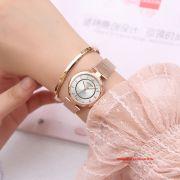 Đồng hồ nữ Julius JS028B kính Sapphire dây inox mạ ION - Size 31
