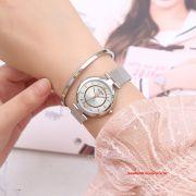 Đồng hồ nữ Julius JS028A kính Sapphire dây inox mạ ION - Size 31