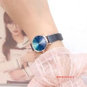 Đồng hồ nữ Julius JA1163E DÂY THÉP xanh
