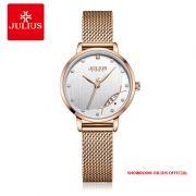 Đồng hồ nữ Julius JA1179A dây thép - Size 29
