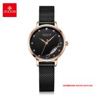 Đồng hồ nữ Julius JA1179D dây thép - Size 29