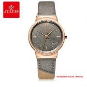 Đồng hồ nữ Julius JA1181B dây da xám - Size 33