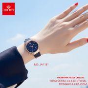 Đồng hồ nữ Julius JA1181D dây da xanh