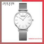 Đồng hồ nữ Julius JS027A kính Sapphire dây inox - Size 32