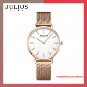 Đồng hồ nữ Julius JS027B kính Sapphire dây inox - Size 32